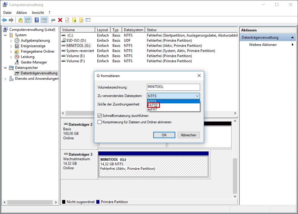 Formatierungsschnittstelle
