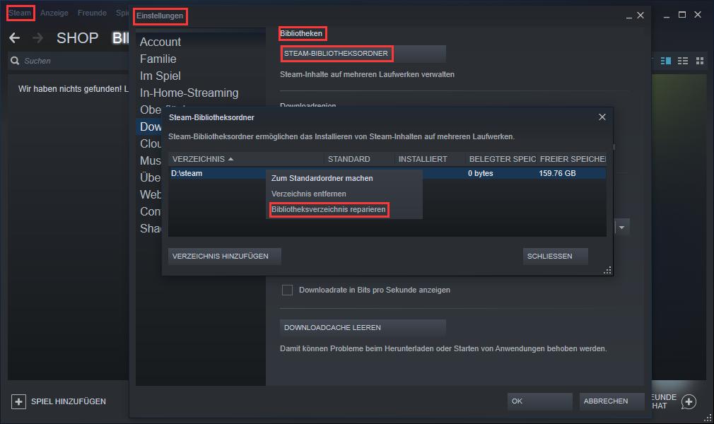 Steam Spiel Auf Fehler überprüfen
