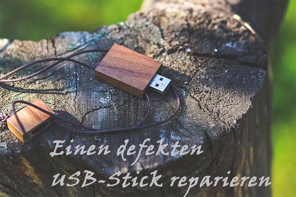 So reparieren Sie einen defekten USB-Stick und stellen Sie Dateien ...