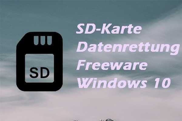 Datenrettung Sd Karte.Die Anleitung Zur Sd Karten Wiederherstellung Fur Windows 10