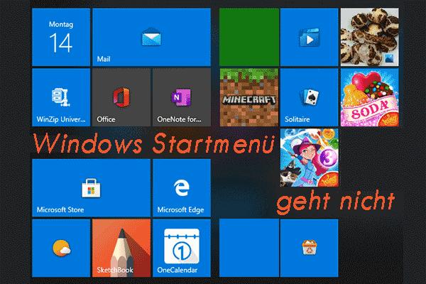 Gelöst - Windows 10 Startmenü funktioniert nicht ordnungsgemäß
