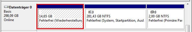 Windows 10 Wiederherstellungspartition