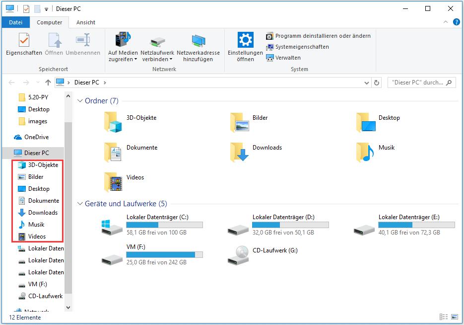 eigene Dateien