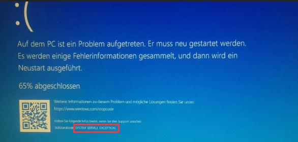Windows Stillstandcode
