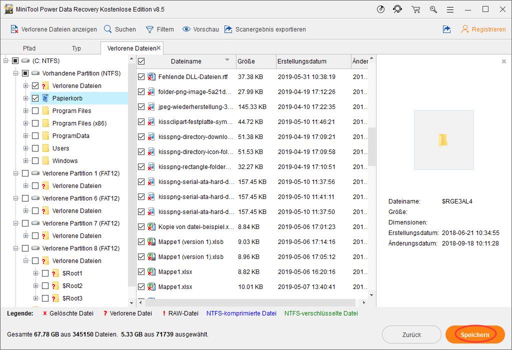 Dateien speichern