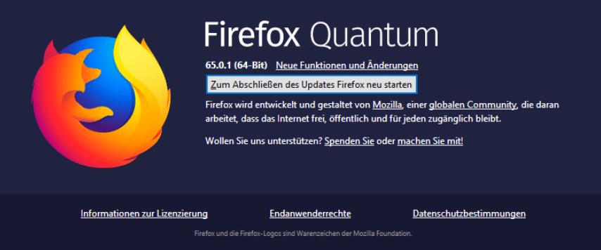 Firefox Schwarzer Bildschirm