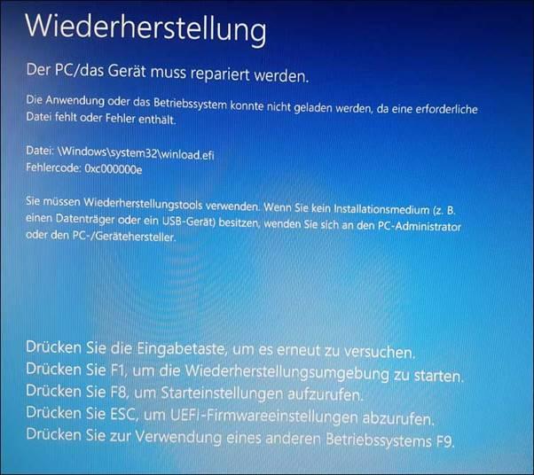 So Beheben Sie Den Fehler 0xc000000e Unter Windows 10 Minitool Software Ltd