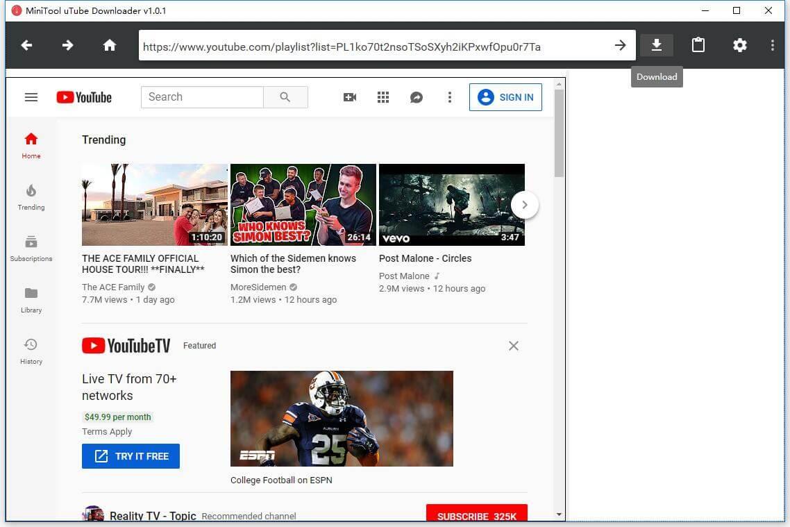 So lädt man YouTube Playliste kostenlos in MP20/MP20 herunter