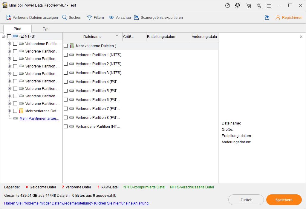 Dateien finden