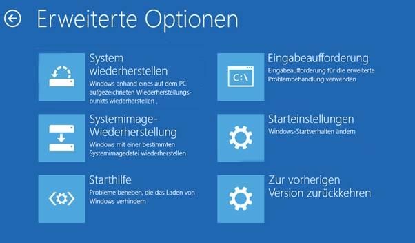 Booten Sie zur Eingabeaufforderung Windows 10