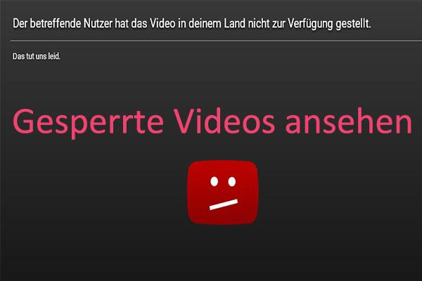 Youtube Videos Gesperrt Anschauen