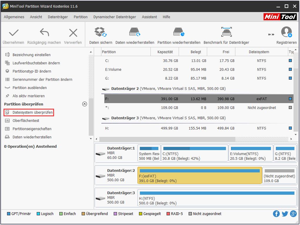 Dateisystem überprüfen