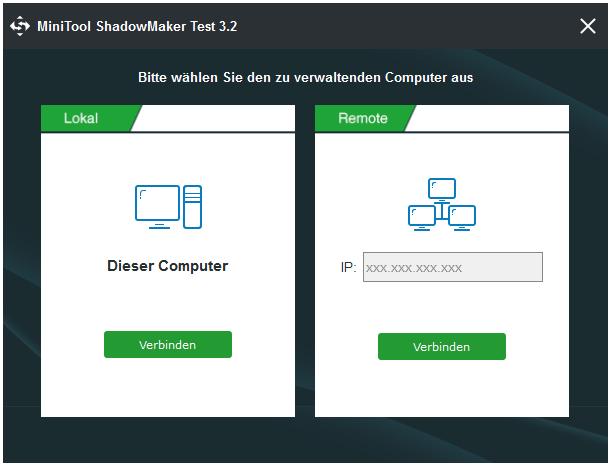Diesen Computer verbinden