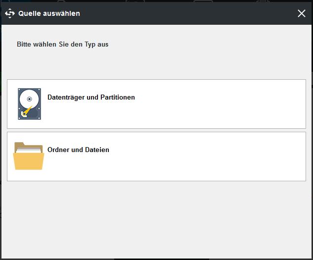 Ordner und Dateien auswählen