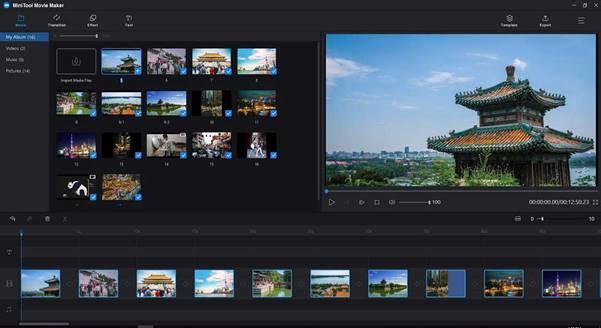 Fügen Sie Dateien zur MiniTool-Videobearbeitungssoftware hinzu
