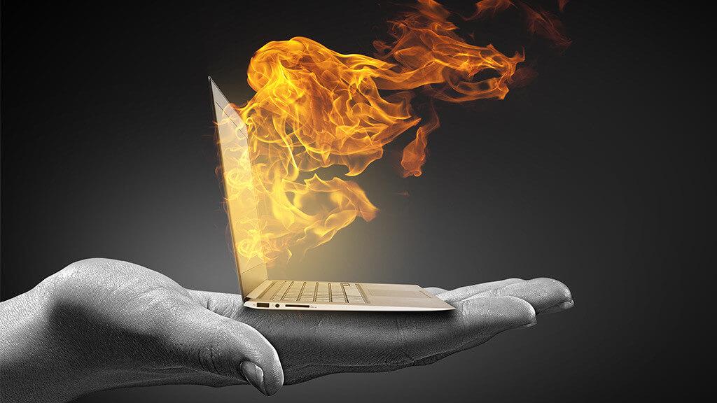 Überhitzten Computer kühlen