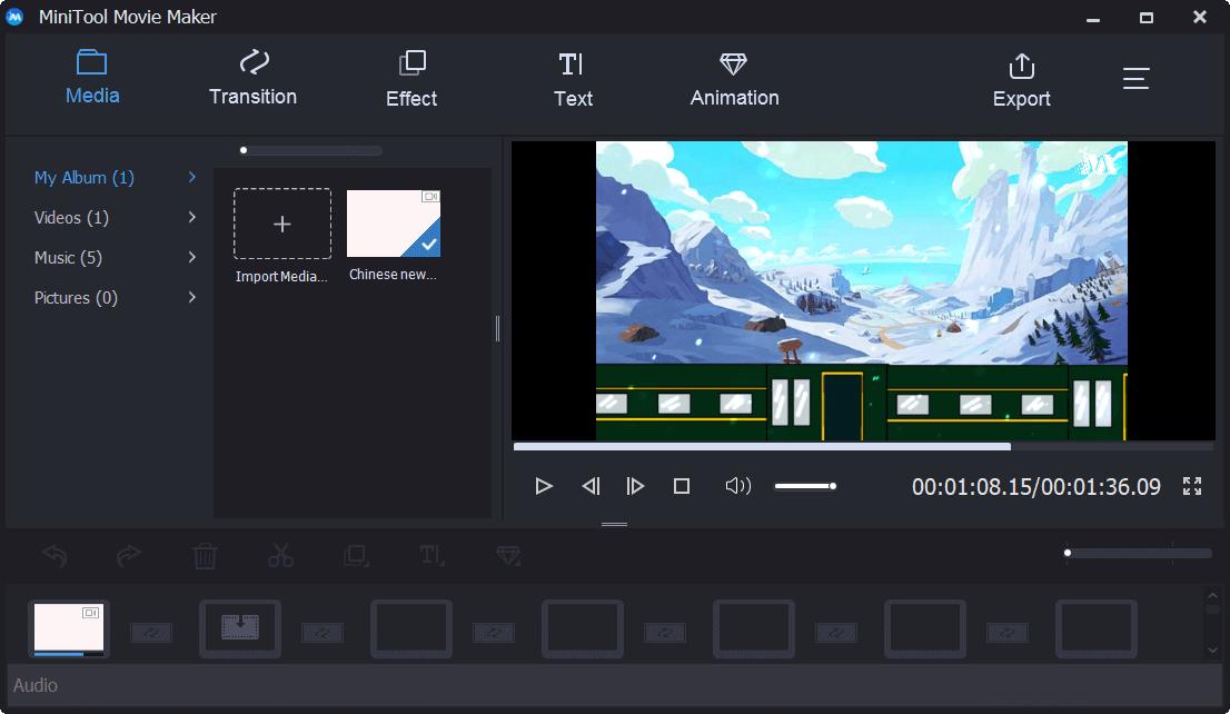 Importieren Sie Videodateien in MiniTool Movie Maker