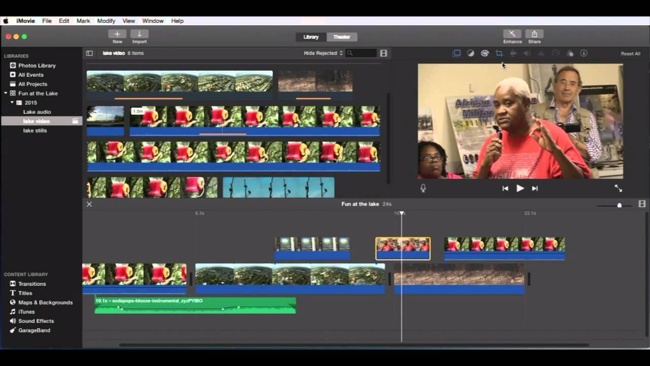 Importieren Sie Videodateien in iMovie
