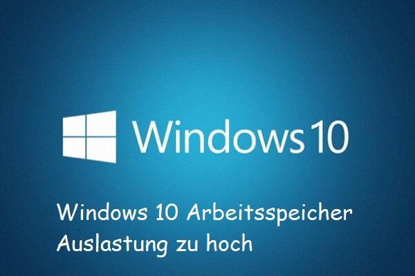 Arbeitsspeicher überprüfen Windows 10