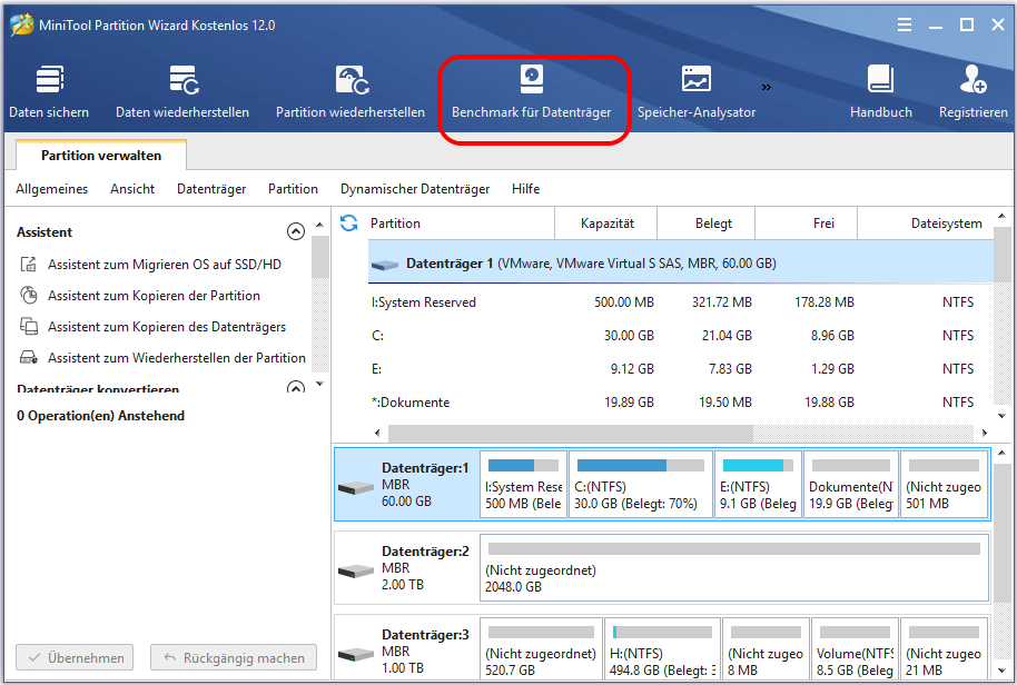 Benchmark für Datenträger