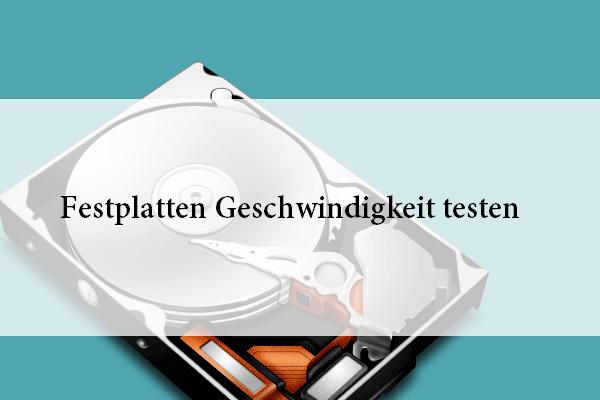 Festplatte Geschwindigkeit Testen