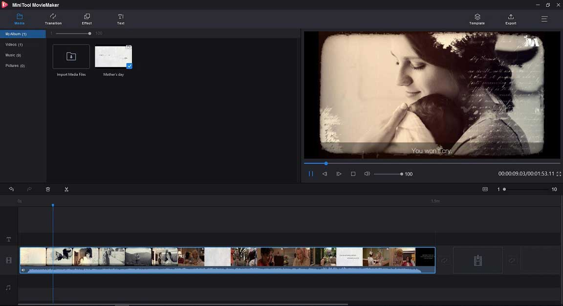 Mithilfe von MiniTool MovieMaker Video abspielen
