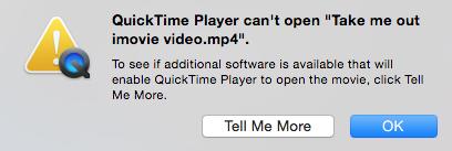 QuickTime Player kann Datei nicht öffnen