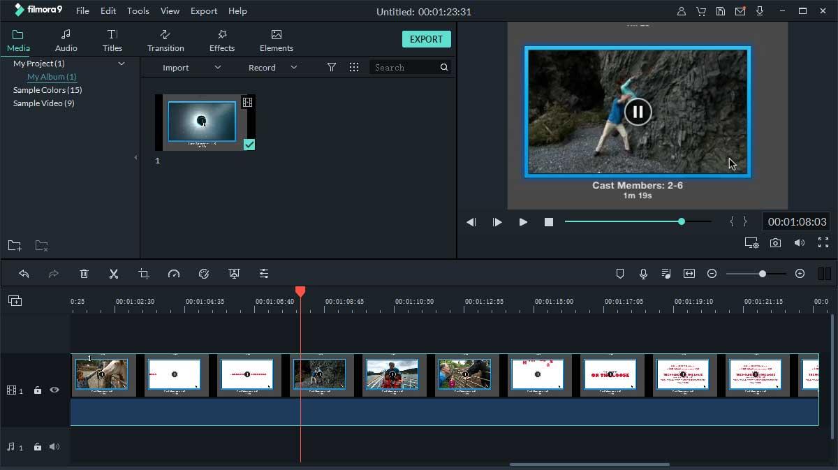 Wondershare Filmore konvertiert MP4 zu MOV