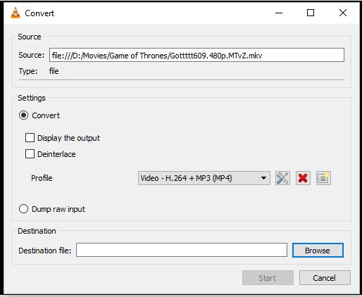 VLC konvertiert Video zu MP4