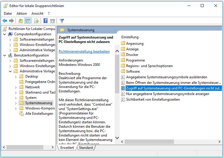 Windows 10 Einstellungen öffnen Nicht