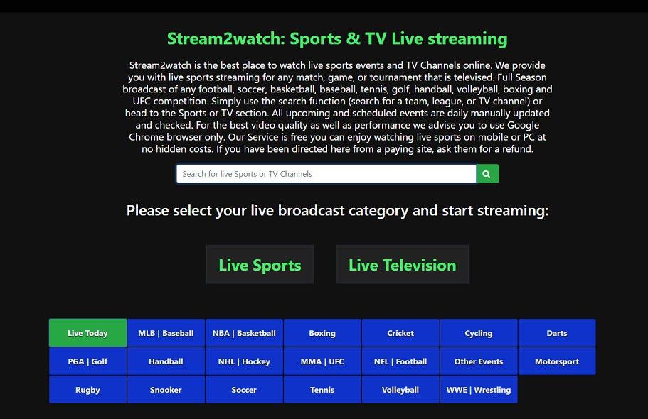 Sport Streaming Seiten