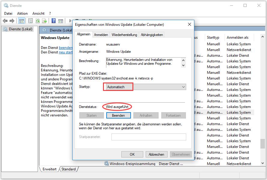 Windows Update Funktioniert Nicht Da Der Dienst Nicht Ausgeführt Wird